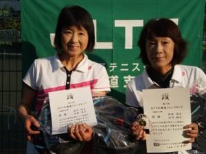 55歳ダブルス決勝トーナメント優勝 石川・塩田(ライジング・フラワー)