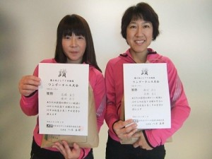C級(9日)優勝 高橋・濱村