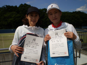 B級シニア優勝 伊藤(リ)・安田