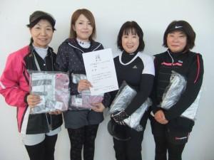 2015フレシュフォー D級優勝 クローバー 竹内・熊谷・森・堅田
